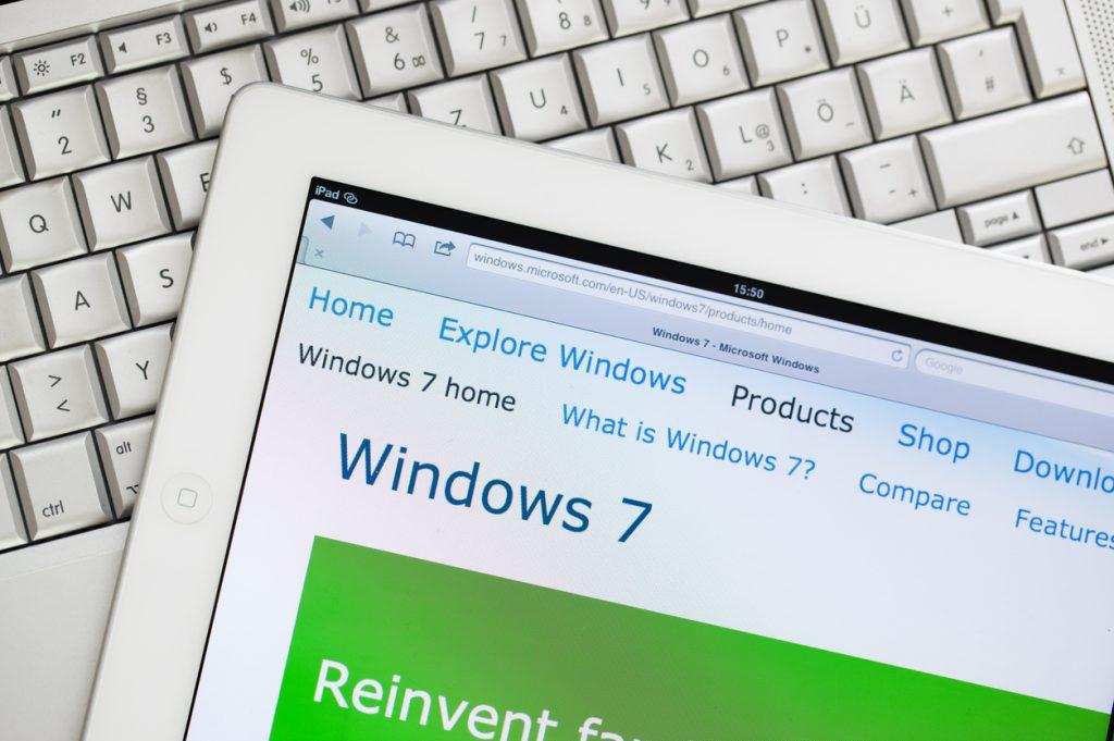 Ondersteuning Windows 7 stopt in 2020